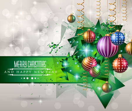 2015 Christmas Greeting Card for happy Holidays and new year flyers. Vector