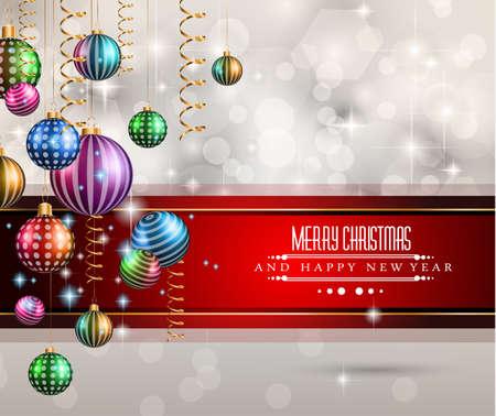 2015 Nouvel An et Joyeux Noël fond Vecteurs