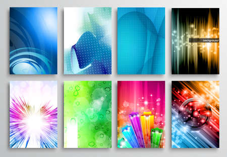 poster concepts: Set of Abstract modern backgrunds for business cards, brochure design, flyer design, cover layouts , magazine page backgrounds and so on.