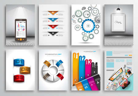 web templates: Set of Flyer Design, Web Templates. Brochure Designs, Technology Backgrounds. Mobile Technologies, Infographic  ans statistic Concepts and Applications covers. Illustration