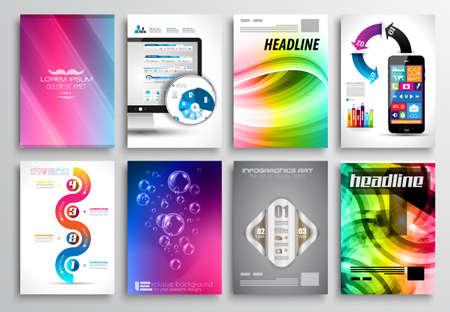 Set of Flyer Design, Web Templates.  Vector