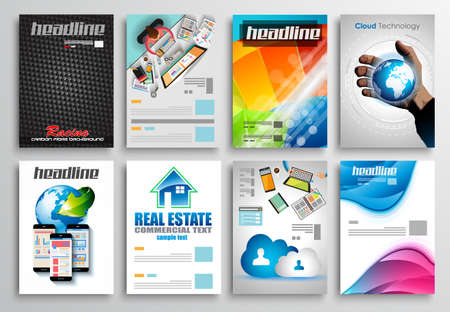 flyer design: Set of Flyer Design, Web Templates. Brochure Designs, Technology Backgrounds. Mobile Technologies, Infographic  ans statistic Concepts and Applications covers. Illustration
