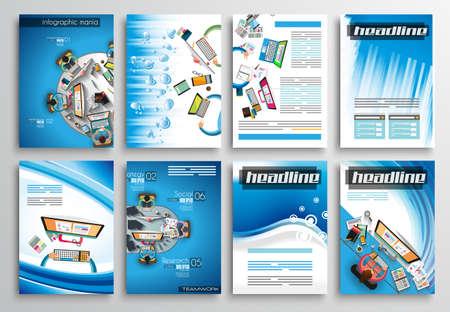 clasificacion: Conjunto de tarjetas informativas, plantillas Web. Dise�os Folleto, Fondos Tecnolog�a. Tecnolog�as M�viles, Conceptos estad�sticos Infograf�a ans y Aplicaciones cubiertas.