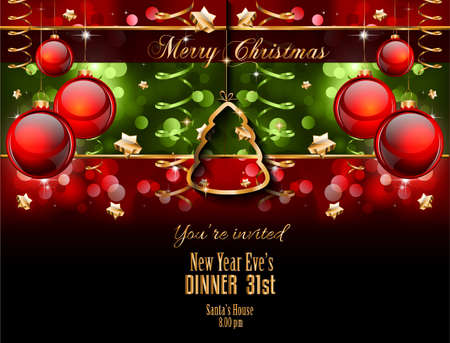 2015 New Year and Happy Christmas background for your flyers, invitation, party posters, greetings card, brochure cover or generic banners. Vector