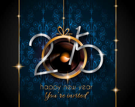 new year's eve: 2015 New Year and Happy Christmas background for your flyers, invitation, party posters, greetings card, brochure cover or generic banners.