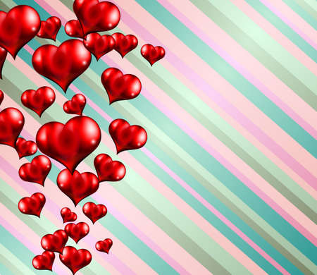 advertisment: Happy Valentines Day background with lovely Hearts. Ideal for brochure, invitation cards, dinnev menu covers, advertisment and poster.