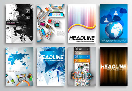 flyer layout: Set of Flyer Design, Web Templates. Brochure Designs, Technology Backgrounds. Mobile Technologies, Infographic  ans statistic Concepts and Applications covers. Illustration