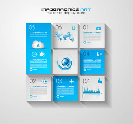 visualization: Modern UI Flat style infographic layout for data display, statistic visualization, reports, custom rankings, seo performance data and so on.
