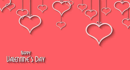 Valentines Day background for dinner invitations, romantic letterheads, book covers, poster layout or couple themed parties. Vector