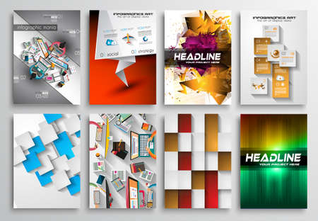 office supply: Set of Flyer Design, Web Templates.