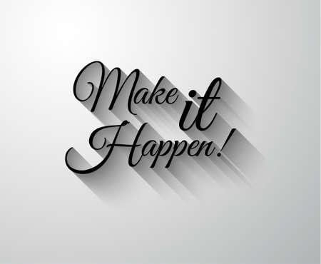 """moudrost: Inspirující a motivační Typo """"Make It Happen"""" pro vás Classsic nebo Vintage plakáty."""