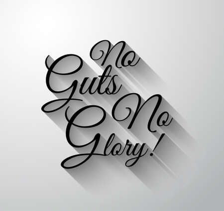 guts: Inspirational and Motivational Typo No Guts No Glory for you Classsic or Vintage posters.
