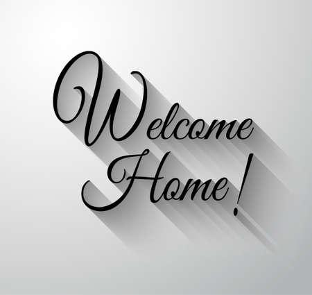 """Inspirující a motivační Typo """"vítej doma"""" pro vás Classsic nebo Vintage plakáty. Ilustrace"""