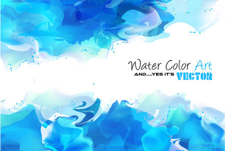 Watercolor Background and yes... it's vector! To use for poster, flyer background, page covers, letterheads, hipster stuff, business cards, brochures template and so on  イラスト・ベクター素材