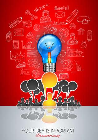 personas comunicandose: Trabajo en equipo Reuni�n de reflexi�n el concepto de comunicaci�n de arte. Las personas que se comunican en todo el mundo con una gran cantidad de ideas y posibles soluciones