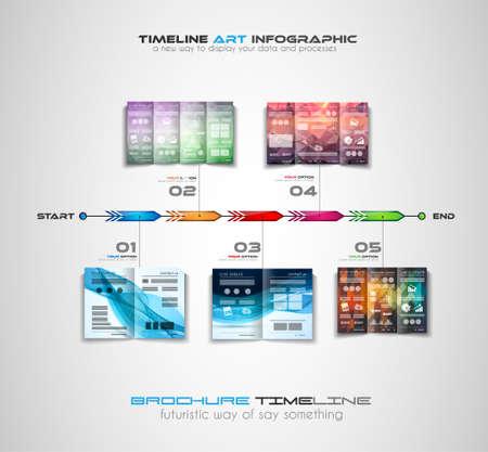 business backgrounds: Timeline con Infografica elementi di design per gli opuscoli, la visualizzazione dei dati, infocharts, sfondi d'affari, riunioni branstorming, presentazioni e cos� via. Vettoriali