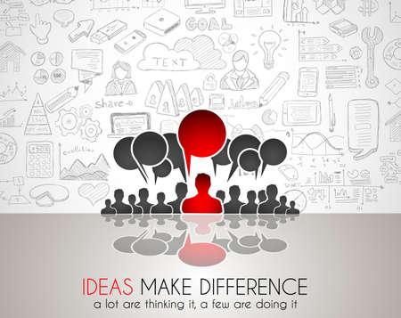 lluvia de ideas: Trabajo en equipo Reuni�n de reflexi�n el concepto de comunicaci�n de arte. Las personas que se comunican en todo el mundo con una gran cantidad de ideas y posibles soluciones