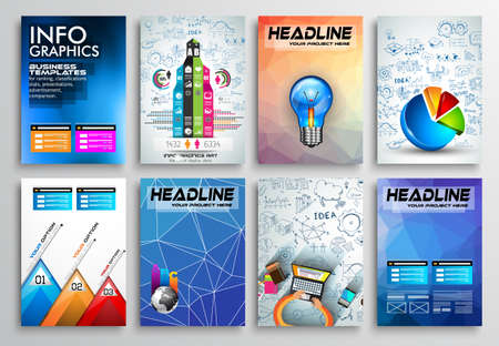 flyer: Set of Flyer Design, Infographics Brochure Designs, Technology Backgrounds. Mobile Technologies, Teamworksand statistic Concepts and Applications covers. Illustration
