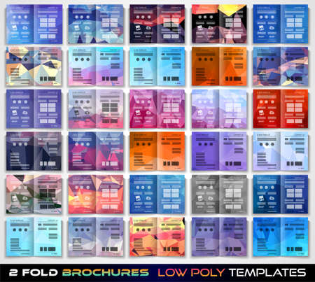 fold: Vector tri fold brochure template design or flyer layout to use for business applications, magazines, advertising, product sheets, item notes, event flyers or meeting invitations. Illustration