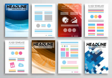 telephone book: Set of Flyer Design, Infographics. Brochure Designs, Technology Backgrounds. Mobile Technologies, Web Templates and statistic Concepts and Applications covers.