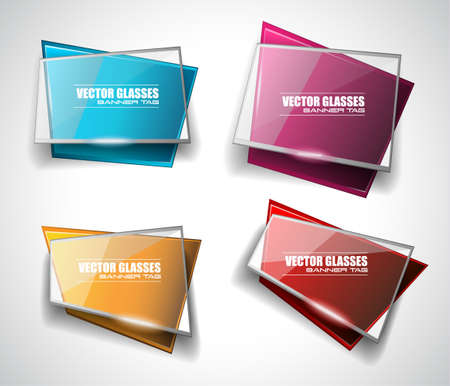 glass panel: Glass Banner with Abstract Shape and glossy effect with transparent shadows. Idea to use as adtertisement panel, infographic backgrpund, item showcase and so on