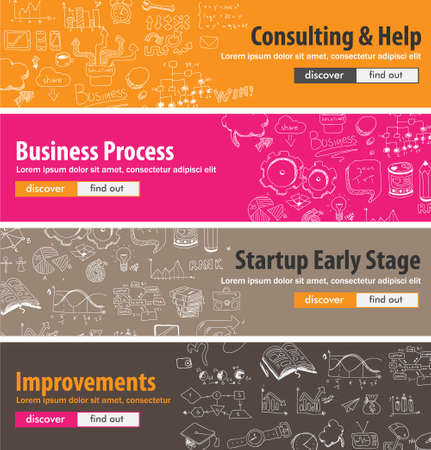 launching: Flat design concepts for startups, consulting,  business, finance, management, team work, analysis, strategy and planning, Ideal to use for printed materials, brochures or banners