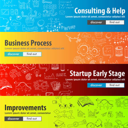 find staff: Flat Style Design Concepts for business strategy and career. Ideal for corporate brochures, flyers, digital marketing, product or idea presentations, web banners and so on .