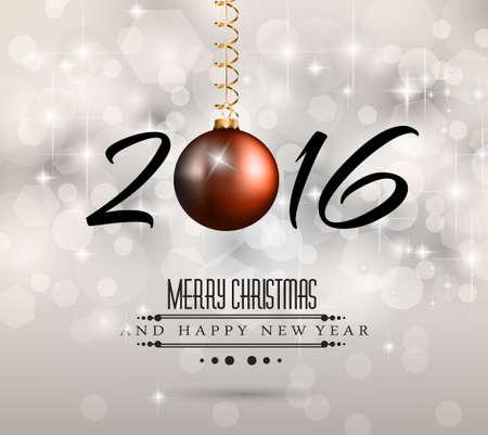 cena navide�a: 2016 A�o Nuevo y Feliz Navidad de fondo para sus volantes, invitaci�n, partido posters, tarjetas de felicitaciones, cubierta del folleto o banners gen�ricos.
