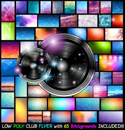 Club de Arte Moderno Disco Flyer de Música orígenes de eventos con 65 bajo Poli Antecedentes incluido! Ideal para carteles, folletos, fondos, páginas, portadas, y así sucesivamente.