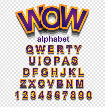 lettres alphabet: Colorful police Simple drôle pour projet de bande dessinée, affiche de l'événement Enfant, Parties invitations, événements ou publicitaires petites affiches. Lettres isolées avec effet d'ombre.