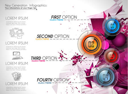 Infographic Ideas infographic proposal template : Infographic Abstract Template With 4 Choices Glass Buttons With ...