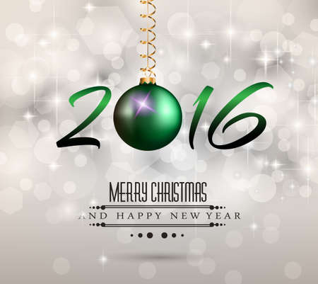 chrstmas: 2016 Merry Chrstmas and Happy New Year Background for your dinner invitations, festive posters, restaurant menu cover, book cover,promotional depliant, Elegant greetings cards and so on.