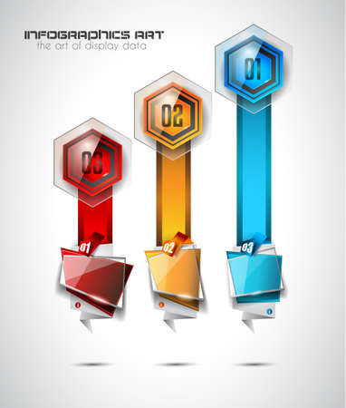 Infographic Abstract template with 4 choices glass buttons with shiny effect. Ideal for marketing and printed material, product classifications, ranking, business solutions Illustration