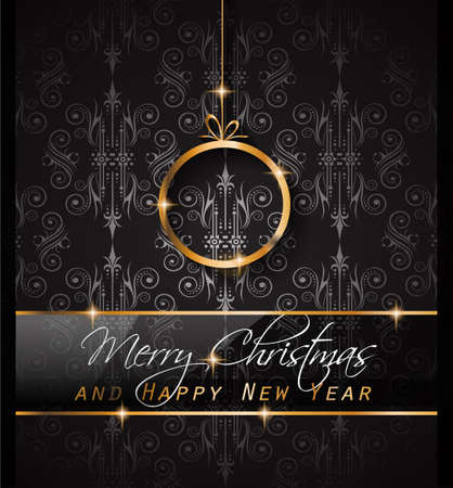 depliant: 2016 Merry Chrstmas and Happy New Year Background for your dinner invitations, festive posters, restaurant menu cover, book cover,promotional depliant, Elegant greetings cards and so on.
