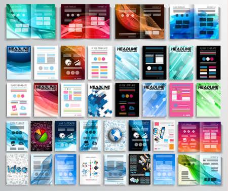 folleto: Conjunto de los aviadores, los antecedentes, la infografía, folletos, tarjetas de visita, las cubiertas, los conceptos de trabajo en equipo y así sucesivamente. 32 piezas con diferentes estilos y colores.