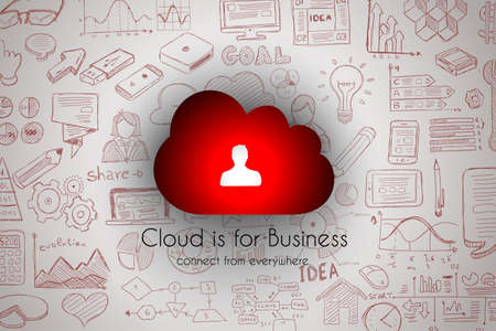 cloud: Cloud Computing concept with infographics sketch set: design elements isolated, vector shapes. It include lots of icons included graphs, stats, devices,laptops, clouds, concepts and so on.