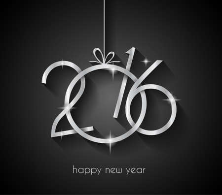 frohes neues jahr: 2016 Frohe Weihnachten und Happy New Year Background für Ihr Abendessen Einladungen Illustration
