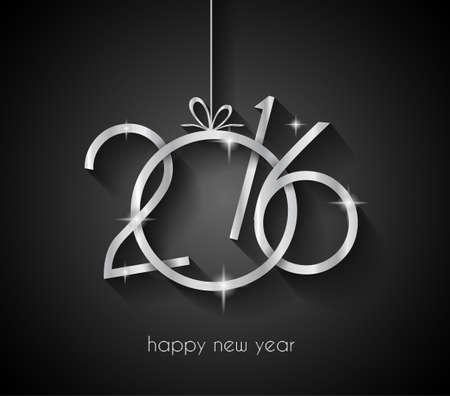 nowy: 2016 Wesołych Świąt i Szczęśliwego Nowego Roku tło dla zaproszeń na kolację Ilustracja