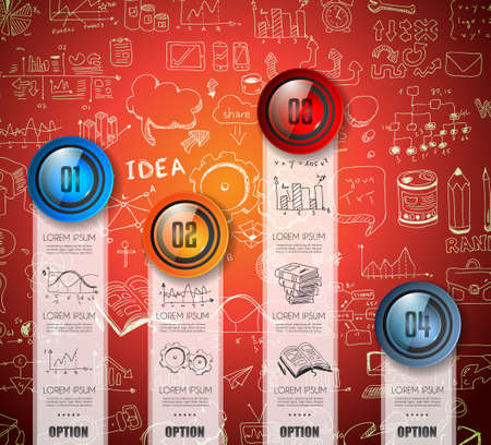 shiny buttons: Infographic Abstract template with multiple choices glass buttons with shiny effect.