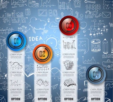 printed material: Infographic Abstract template with multiple choices glass buttons with shiny effect. Ideal for marketing and printed material, product classifications, ranking, business solutions