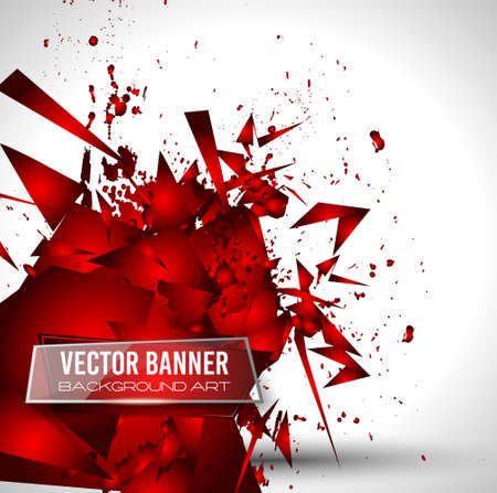 red line: Abstract Background with Shapes Explosion For Cover