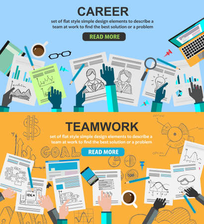 career management: Design Concepts for team work and career, financial management or business strategy.. Ideal for corporate brochures, flyers, digital marketing, product or idea presentations, web banners and so on .