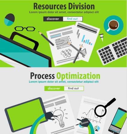 strategy meeting: Flat Style Design Concepts for business analytics and winning strategy, finance, brainstorming, career, recruitment,meeting table, staff training.Ideal for printed material or web banners. Illustration