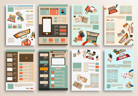 website template: Set of Flyer Design, Web Templates. Brochure Designs, Technology Backgrounds. Mobile Technologies, Infographic ans statistic Concepts and Applications covers.