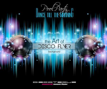 nightclub: Club Disco Flyer Set with Music Elements and Colorful Scalable backgrounds. A lot of diffente style flyer for your techno, hip hop, electro or metal  music event Posters and advertising printed material.