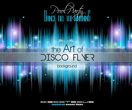 printed material: Club Disco Flyer Set with Music Elements and Colorful Scalable backgrounds. A lot of diffente style flyer for your techno, hip hop, electro or metal  music event Posters and advertising printed material.