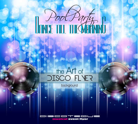 nights: Disco Club Flyer Template for your Music Nights Event. Ideal for TEchno Music, Hip Hop and House Performance Posters and flyers for Discotheques and night clubs. Illustration