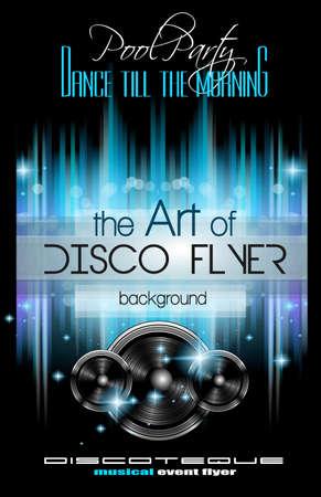 party dj: Disco Club Flyer plantilla para su Música Noches de Eventos. Ideal para la música Techno, Hip Hop y House Rendimiento carteles y folletos para Discotecas y clubes nocturnos.