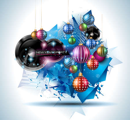party club: Christmas Party Flyer for music night events, club poster background, disco flyers, private parties and so on!