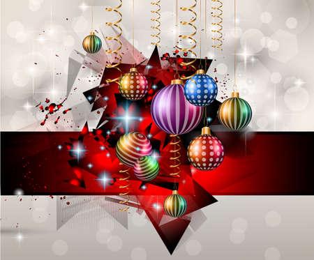 navidad elegante: Antecedentes de Navidad de temporada para los aviadores de su cena de Navidad, invitaciones, carteles festivos, la cubierta del menú del restaurante, de libro, depliant promocional, tarjetas de felicitaciones elegante y así sucesivamente.